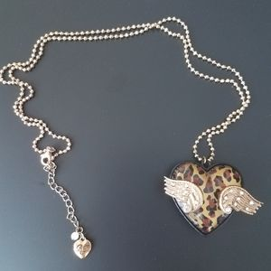 Betsey Johnson Cheetah Fly with Me Necklace